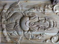 Front Door Design Wood, Wooden Door Design, Main Door Design, Wooden Doors, Mural Art, Murals, Wooden Temple For Home, Tapas, Pooja Room Door Design