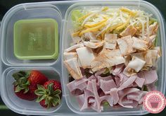 """Mom's lunch:  salad made with Homemade """"Lunchable"""" scraps! with @EasyLunchboxes"""
