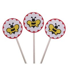 Cupcake Toppers Bumble Bees