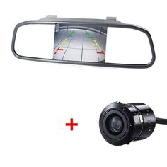 2-in-1 Universal TFT Rearview 5 Inch Mirror Monitor with Car Rear View Camera Parking System Night Vision Car Reversing Camera