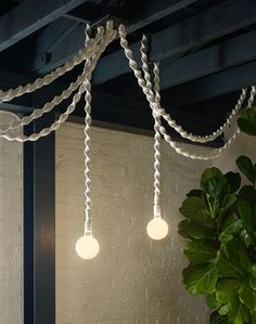 Windy Chien - Helix Light macrame lamp - http://www.windychien.com/shop/