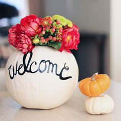 Love these ideas :) Trick Out Your Table With 21 DIY Fall Centerpieces via Brit + Co.