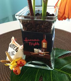 Havana Nights Party Centerpiece from our Pachanga Collection  https://www.facebook.com/media/set/?set=a.174635912596282.44572.102616756464865&type=3