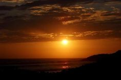 Sunset over Punta Cabra, Erendira, Baja California.