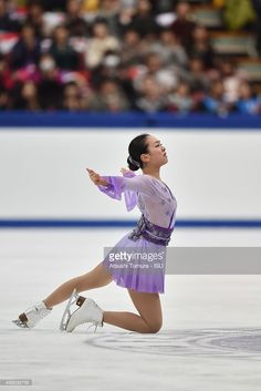 Mao Asada of Japan competes in the ladies's free skating during the day two of the NHK Trophy ISU Grand Prix of Figure Skating 2015 at the Big Hat on November 28, 2015 in Nagano, Japan.