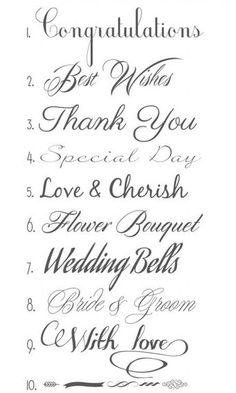 GREAT WEDDING FONTS http://merrybrides.tumblr.com/post/86201712555/wedding-fonts