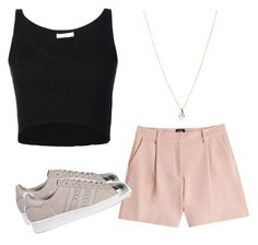 """""""Untitled #103"""" by princxssb on Polyvore featuring McQ by Alexander McQueen, 321, adidas Originals and ASOS"""