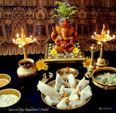 Jill of all Trades: Sweet and Spicy Kozhukattai/ Modak Ganesh Chaturthi Decoration, Ganesh Chaturthi Images, Happy Ganesh Chaturthi, Ganesha Rangoli, Clay Ganesha, Lord Ganesha Paintings, Lord Shiva Painting, Ganesh Pooja, Shri Ganesh