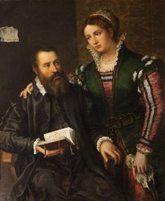 An Unknown Man and Woman (once called Vasari and his Wife Sophonisba Anguissola)  {Italian (North Italian) School}