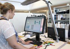 Technical pattenmaker student Evelina Arvidsson on her internship at Swedish brand KappAhl.