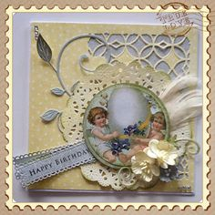 Lunasdatters Scrapbooking: Happy Birthday Card