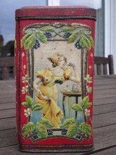 Vintage German Rubida tea tin
