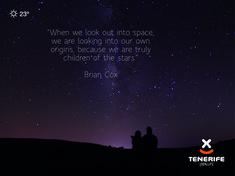 "Brian Cox ""Cuando miramos al espacio estamos mirando hacia nuestro propio origen, pues somos realmente hijos de las estrellas."" Tenerife, Islas Canarias // ""When we look out into space, we are looking into our own origins, because we are truly children of the stars.""  Tenerife, Canary Islands // ""Wenn wir in den Weltraum schauen, schauen wir in unsere eigenen Ursprünge, weil wir wirklich Kinder der Sterne sind."" Teneriffa, Kanarische Inseln Brian Cox, Canary Islands, When Us, Stargazing, Origins, Den, Stars, The Originals, Children"