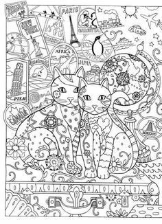 Creative Cats Adult Colouring Book I Marjorie Sarnat
