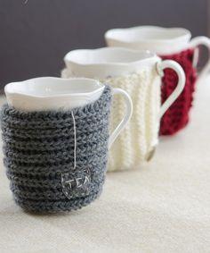 Cute DIY mug sweaters :)