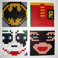 Batman coaster set hama beads by Pixulandia.