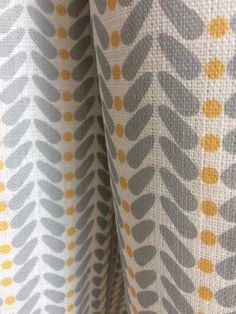 Curtains Made to Measure - Yellow Grey Curtains - Linen Curtains - Gui Exall Yellow And Grey Curtains, Mustard Yellow Curtains, Grey And Yellow Living Room, Nursery Curtains, Linen Curtains, Curtain Fabric, Linen Bedding, Bed Linens, Bedding Sets