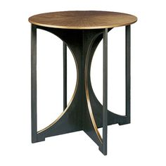 Catalina Table  Transitional, Metal, Side  End Table by Tuell  Reynolds
