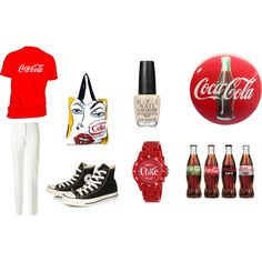 coke by spirtgirl13 on Polyvore featuring Victoria Beckham, Converse, Comeco, RumbaTime and OPI