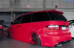 Mini Vans, Daihatsu, Toyota Van, Toyota Previa, Vanz, Toyota Hiace, Candy Apple Red, Custom Vans, Wrx