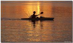 Morning kayaker :: Kayak Fishing   cant wait till spring!!