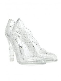 Live out your own fairytale in these transparent pumps from Dolce & Gabbana. Sparkling crystal embellishment adorns the dreamy design, finishing an oh-so feminine look. Team yours with any of your party dresses - you're . Clear Shoes, Glass Shoes, White Bridal Shoes, Wedding Shoes, Prom Heels, Pumps Heels, Heeled Sandals, Dolce & Gabbana, Cinderella Heels