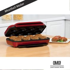 Makes 8 meatballs in minutes. It is quick and easy to use. Non-stick coating for easy clean up and a drip tray to collect the run off juices. >Makes 8 meatballs >Non-stick coating >Quick and easy to use >Drip tray to collect run off >Bakes faster than an oven  Buy it - http://goo.gl/krivVG