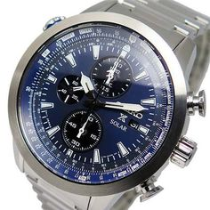 Seiko Mens Solar Chronograph Pilots Watch - In Stock, Free Next Day Delivery, Our Price: Buy Online Now Seiko Solar, Seiko Men, Seiko Watches, Beautiful Watches, Michael Kors, Cool Watches, Chronograph, Pilots, Stuff To Buy