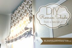 DIY Roman Shade {Tutorial} - Blissfully Ever After