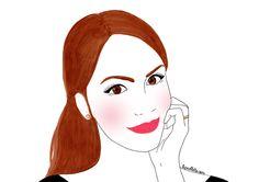 Illustrations pour le blog  de Georgina Edith portrait peinture painting