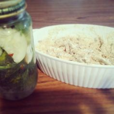 Pickled Cucumbers! Herb Rottisere chicken salad! Homemade by yours truly! Yummy!
