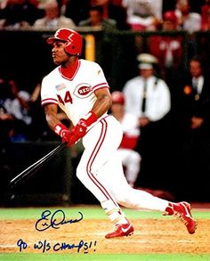 Autographed Eric Davis 8x10 Cincinnati Reds Photo