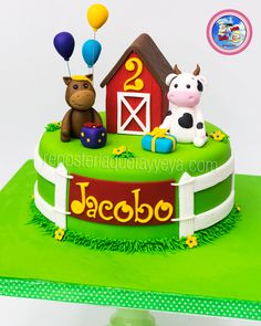 Farm cake - Farm cake - fondant farm animals - farm animals in fondan . - Farm cake – Farm cake – fondant farm animals – farm animals in fondant - Farm Animal Cupcakes, Farm Animal Party, Farm Animal Birthday, Animal Cakes, Farm Party, Farm Birthday Cakes, Boy Birthday Parties, Catering Food Displays, Farm Cake