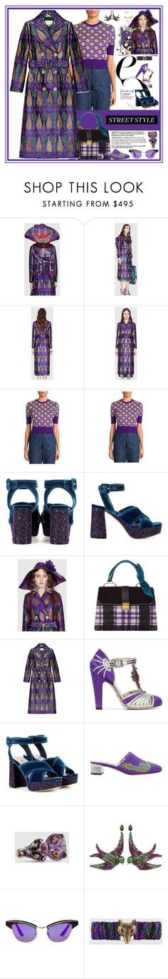 """""""Snap It: NYFW Street Style"""" by yours-styling-best-friend ❤ liked on Polyvore featuring Gucci and Miu Miu"""
