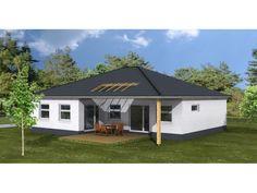 Harmonie Wohnhaus Bungalow 140 - #Einfamilienhaus von 1A Wohnbau GmbH | HausXXL #Bungalow #modern #Walmdach