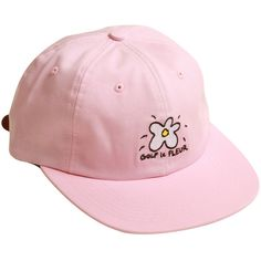 0804b1f050d GOLF LE FLEUR DAD HAT PINK (54 AUD) ❤ liked on Polyvore featuring  accessories