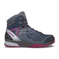 La chaussure femme LYXA GTX® MID est équipée dun mélange de matériaux résistant et dune membrane GORE-TEX® respirante ce qui lui offre confort et stabilité. Elle vous acompagnera par tout les temps dans vos treks... Vegan Hiking Boots, Hiking Boots Women, Tote Bag, Designer Shoes, Blue Grey, Air Jordans, Sneakers Nike, Textiles, Navy
