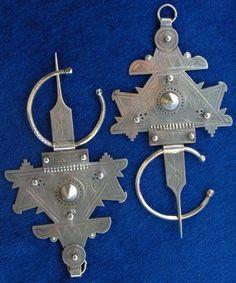 "Silver Moroccan Berber Occidental Anti Atlas Fibulae ""Tizerzaï"" Foum EL Hassan | eBay"