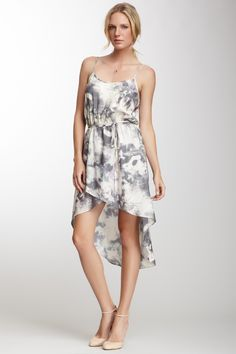 Hi-Lo Printed Dress