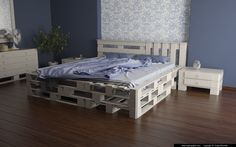 Bedroom From Pallets by slographic.deviantart.com make your own room http://www.cadmiami.com
