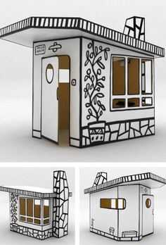 Clearly not for outdoor use, but I like the simplicity. I like the drawings and can envision them on wood or SIPS or ?? Info on product: The Villa Julia designed by Javier Mariscal for Magis was part of the Me Too collection - designed products for kids.