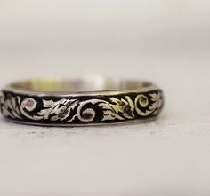 Hey, I found this really awesome Etsy listing at https://www.etsy.com/listing/93316972/sterling-silver-floral-band-floral