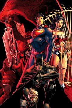 The DC Trinity by Jim Lee and Scott Williams