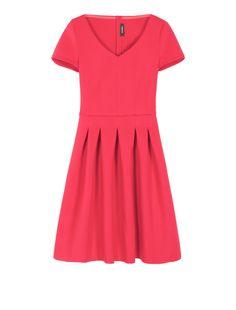 MAX&Co. PALLINA rosso: Corolla Dress di tessuto scuba. 129