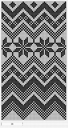 Worki mochilla i wayuu Tapestry Crochet Patterns, Fair Isle Knitting Patterns, Crochet Stitches Patterns, Knitting Charts, Crochet Chart, Loom Patterns, Filet Crochet, Knitting Stitches, Knitting Designs