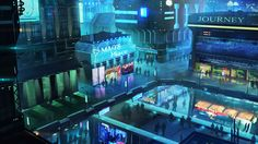 Sci-Fi club expand by mrainbowwj | Digital Art / Drawings & Paintings / Landscapes & Scenery | Sci-Fi Futuristic Concept City Metropolis Cyberpunk