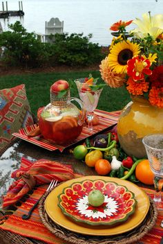 Festive outdoor table