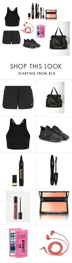"""Gym class incoming"" by kah-leonie on Polyvore featuring Mode, NIKE, MPG, T By Alexander Wang, L'Oréal Paris, Lancôme, NYX, Kevyn Aucoin, Kate Spade und FOSSIL"