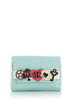 Paint the town in red, hearts and spades with this adventurous clutch from Danielle Nicole! How would you style this chic accessory?
