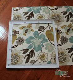 Living Room Makeover – Part 6: Super-Easy Throw Pillows/ info on framing a pattern